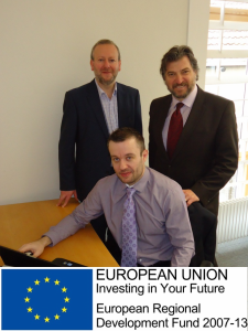L-R: Councillor Mark Bradshaw, Paul Hollingsworth and Paul Mooney.