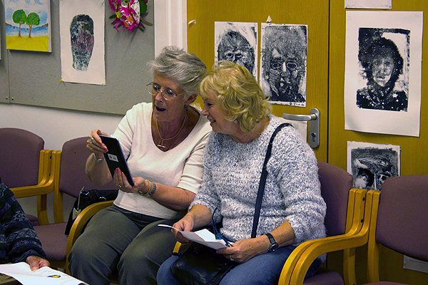 Ladies using tablet