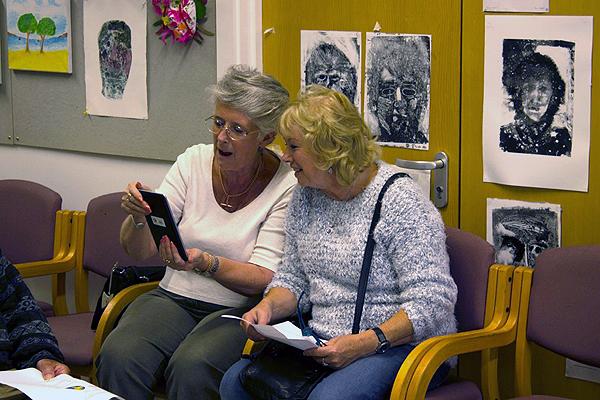 Ladies using tablet
