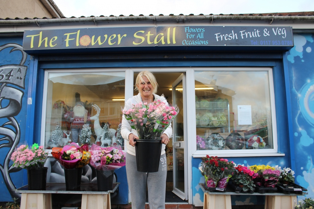 Flower and greengrocer shop