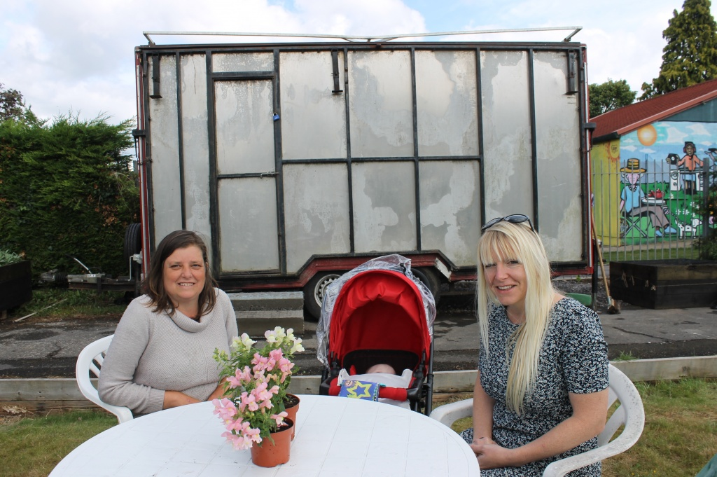 Cafe arrives at Redcatch Community Garden