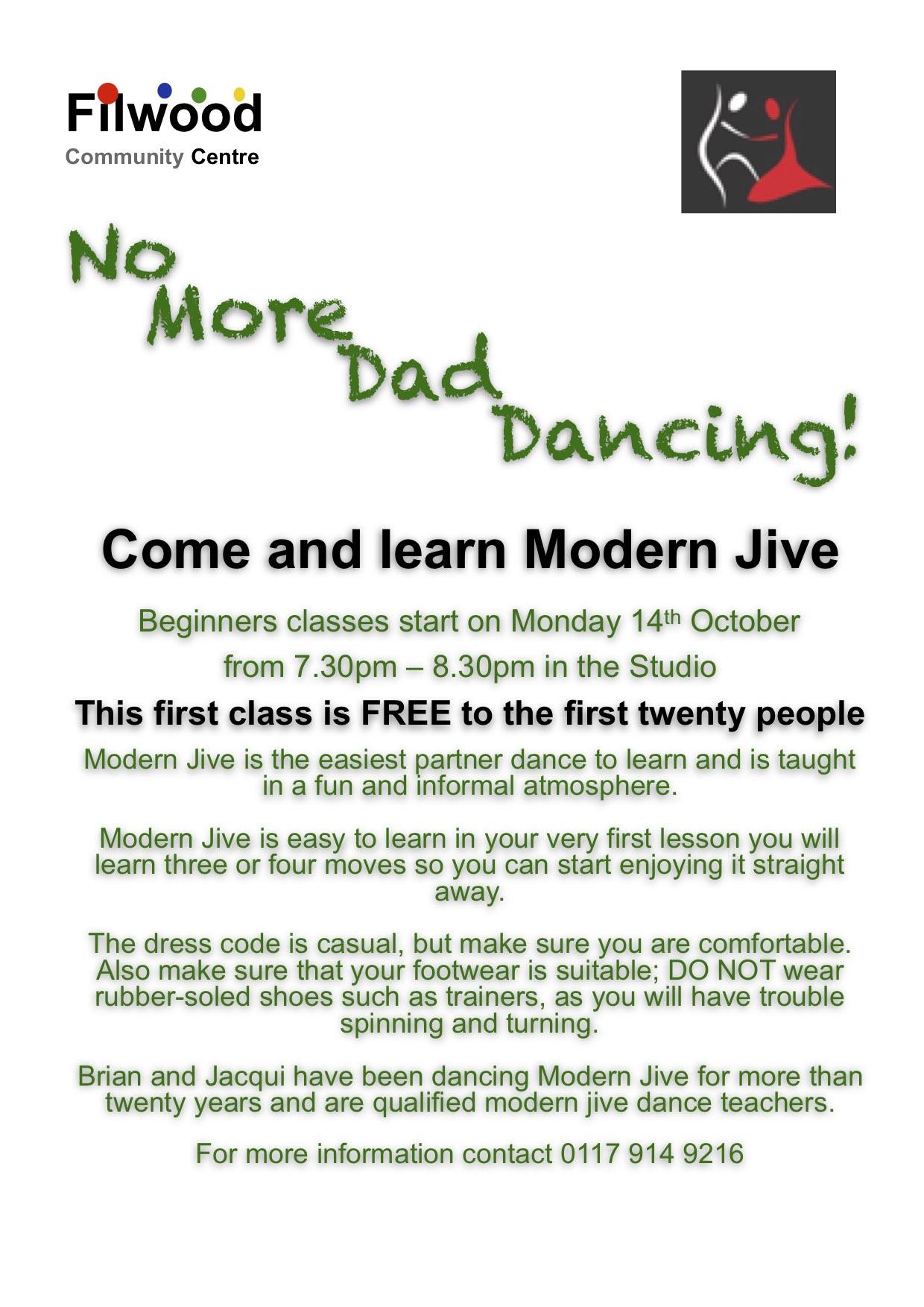 No more dad dancing flyer