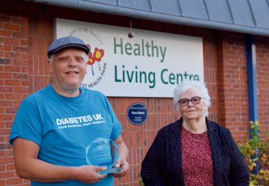 Awards for raising awareness of diabetes in Knowle West