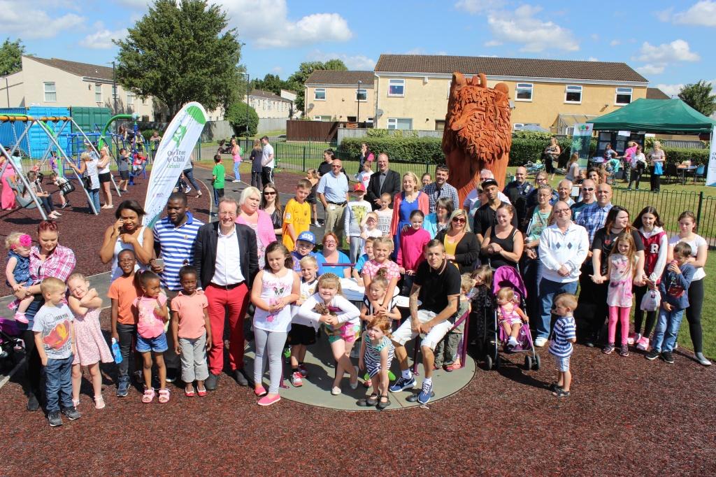 Bristol Mayor George Ferguson opens Inns Court Playground to local families