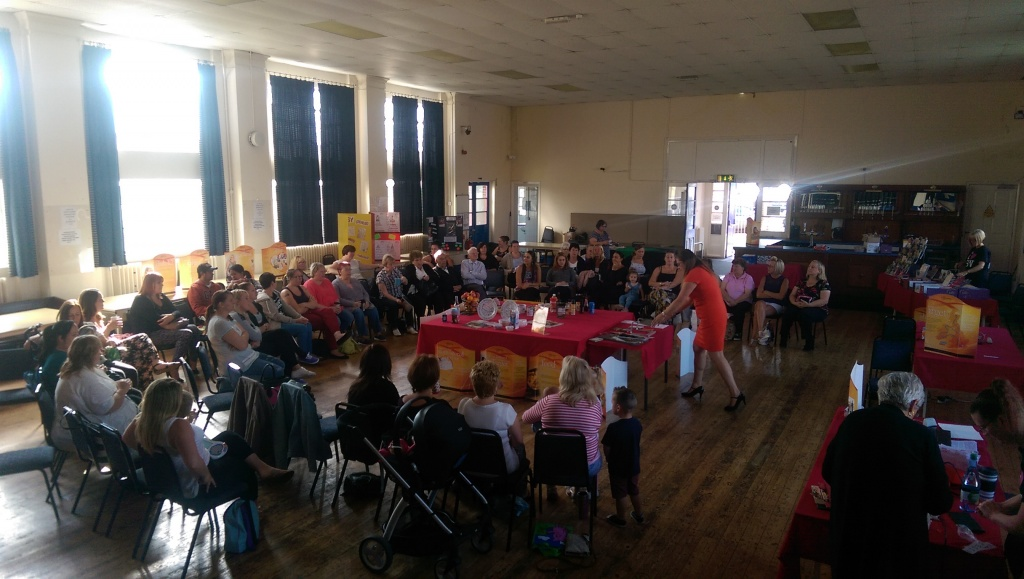 A Slimming World session at Filwood Community Centre.