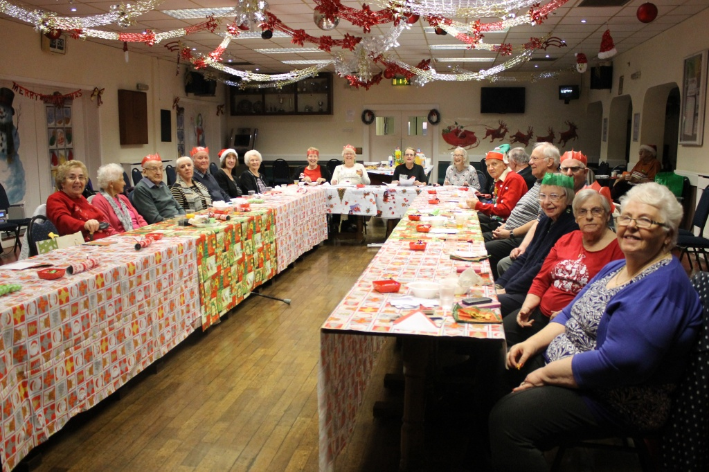 Silver Screen film club having their Christmas dinner.
