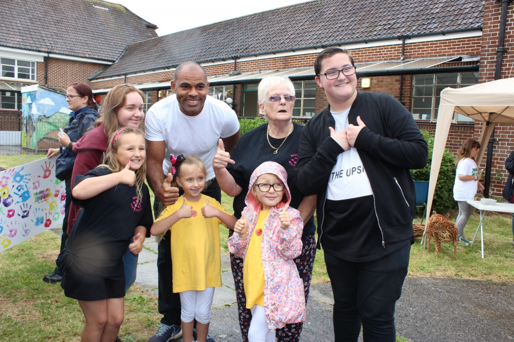 Bristol Mayor Marvin Rees with members of the Knowle West Arts Promotion Group at Knowle West Fest in August.
