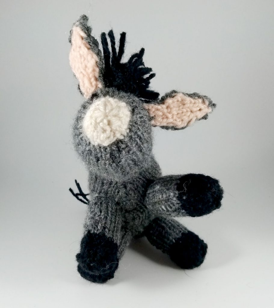 little knitted donkey